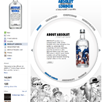 Absolut London - Facebook tab